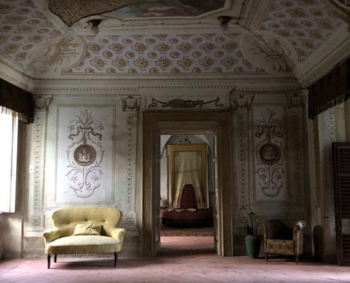 interno della Villa Siotto Pintor