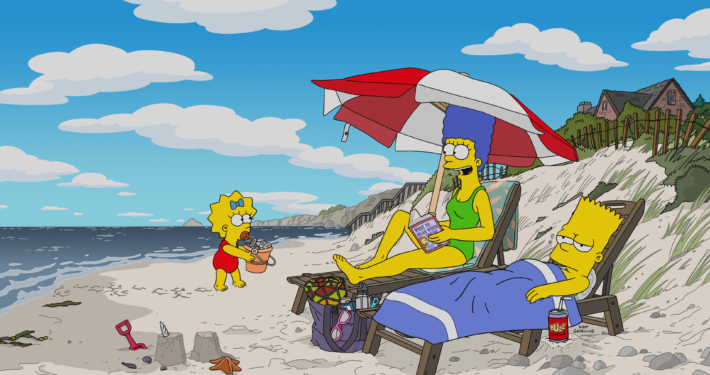 beach-vacation-the-simpsons